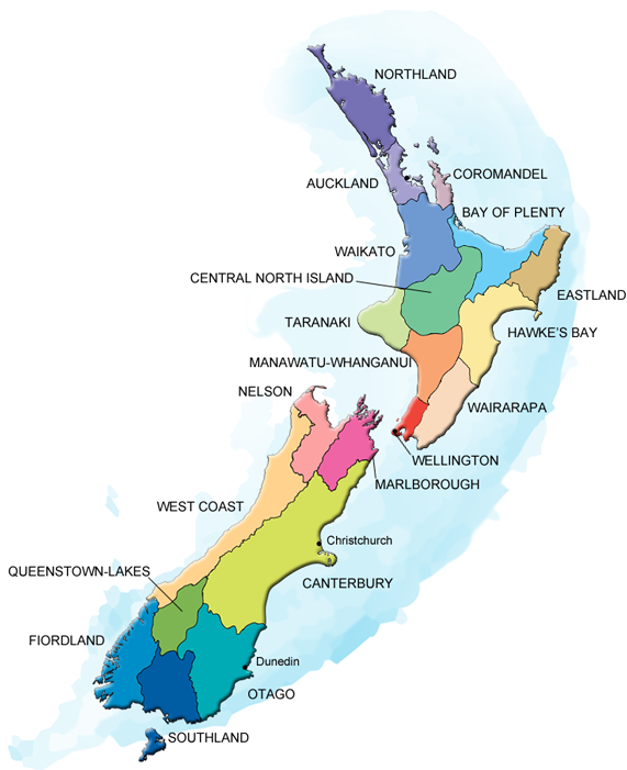 New Zealand Art Trails Map